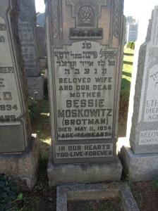 Bessie's headstone