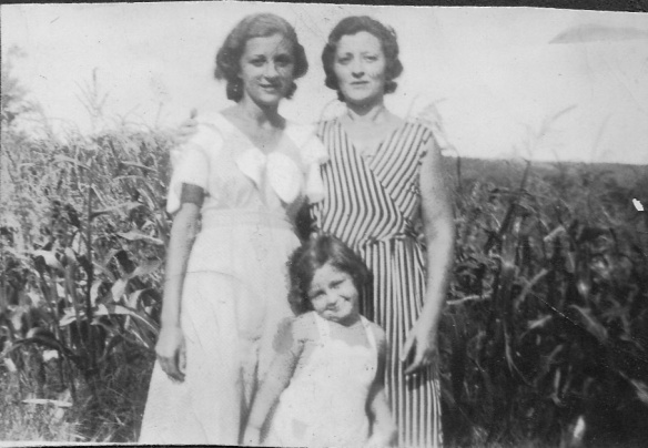 My grandmother with her two daughters, my Aunt Elaine and my mother 1933