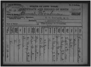 Sam's Birth Certificate Joseph was NOT 42!