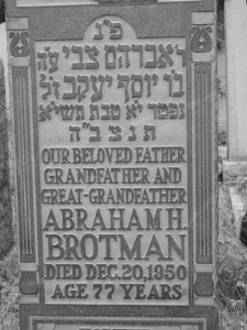 Abraham Brotman headstone