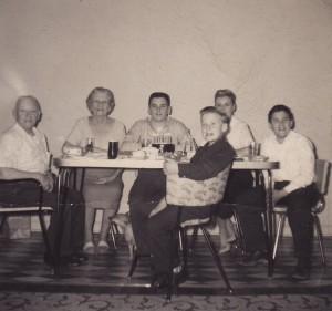 Herman, Sophie, Bruce, Les, Vicki and Ron