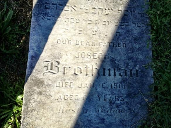 Joseph headstone ABC