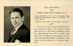 Saul Brotman at Panzer College 1932