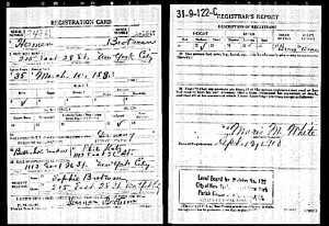 Herman Brotman World War I Draft Registration