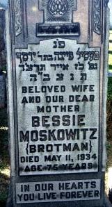 Bessie headstone enhanced