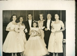 Susan, Renee, Charles, Judy Haber and the Dombeys at Rosalind's wedding