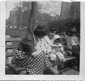 My Grandparents, my mother and me, 1953