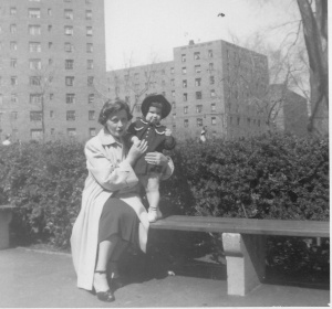 Grandma and Amy 1954