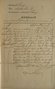 Moritz and Gittel's marriage certificate