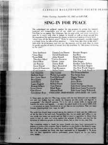Sing In For Peace 1965
