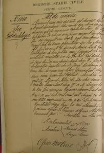Ira aka Isidor Goldschlager birth record