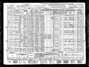 Betty Feuerstein and family 1940 census