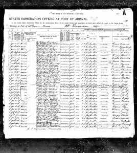 Itic passenger manifest page 2