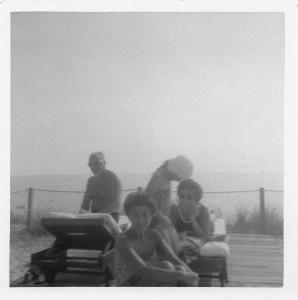 Maurice, Elaine and Lynn and a cousin