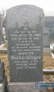 Moritz Goldschlager headstone