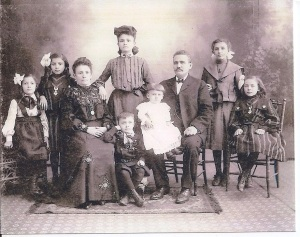The Schwartz Family in Newark (Rebecca standing in the rear middle)