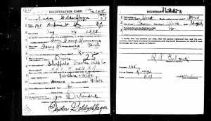 Isadore's World War I draft registration