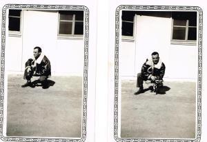 Maurice at Aerial Gunnery School in Kingman, AZ