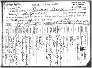 David Brotman and Annie Salpeter marriage certificate