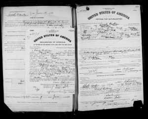 David Brotman petition for naturalization 1920