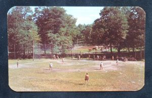 log tavern softball postcard