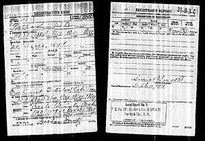 Nathan Mintz draft registration 1917