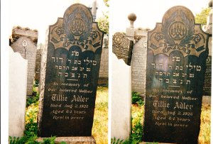 Tillie Strolowitz Adler headstone Mt Sinai
