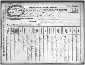 William Bartolini birth certificate