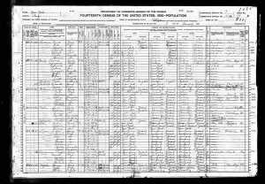Elkin Family 1920 census
