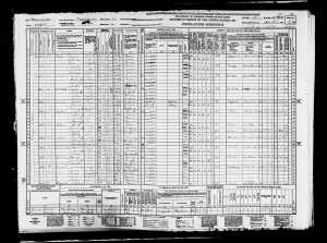 Frank Elkin and family 1940 census