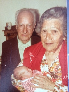 Joe and Sadie Rosenzweig in 1982 with Bradley Marc, their great grandson