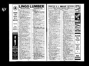 Dallas Phone Directory 1934