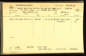 Joseph Rosenzweig military service