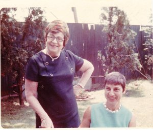 Leah in 1968 with a cousin Margie