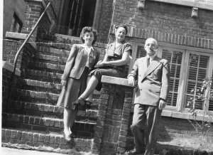 Teddy and Leah and Ben 1944 after her high school graduation