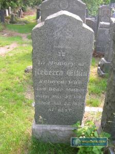 Rebecca Elkin's headstone