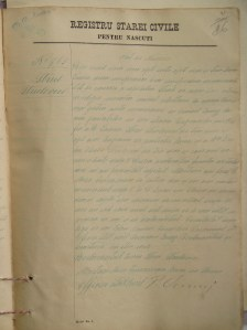 Isidore (Srul) Strolowitz Adler's birth certificate