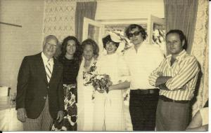 Joe at Ariela and Uri's wedding in 1974