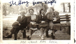 Abe, Sylvia, Ray (Abe's sister) and Beck