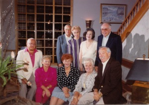 Irwin Elkins reunited with his cousins Rebecca Kurtz and Ben Kurtz and others in Florida 1992