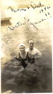 Joe and Sadie in Lake 1942