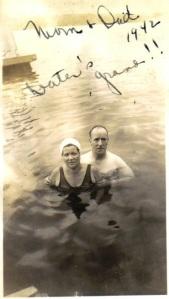 Joe and Sadie in Lake 1942