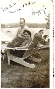 Joe and Sadie on Chair 1942