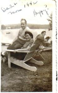 Joe and Sadie on Chair 1942