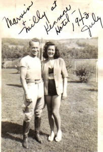 Mildred and friend 1943