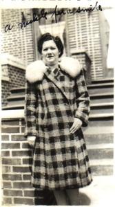 Sadie in cloth coat