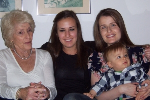 My mother and my daughters and grandson