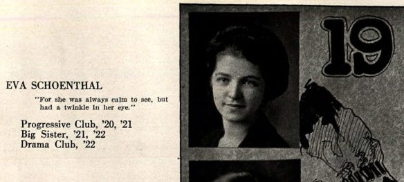 Eva Schoenthal high school yearbook picture