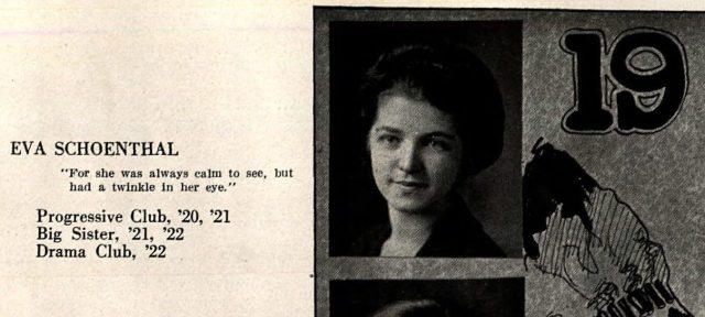 Eva Schoenthal high school yearbook picture