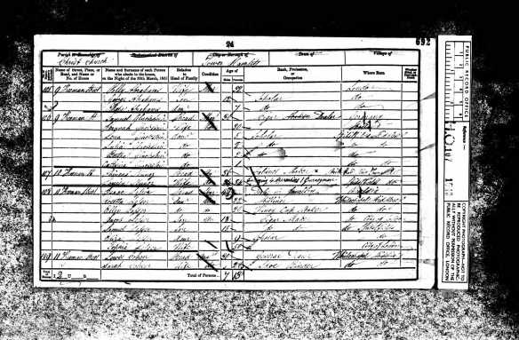 Lewis Cohen 1851 census (not sure this is the correct Lewis)